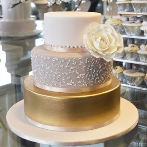 Gorgeous Gold wedding cake