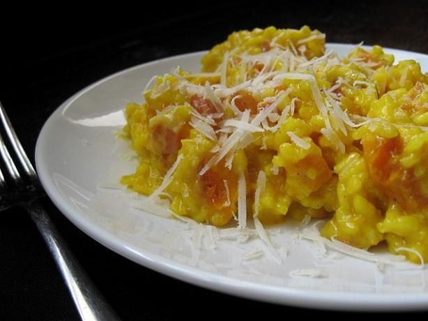 Butternut Squash Risotto: A creamy and delicious meal for dinner. (holiday foods butternut squash)