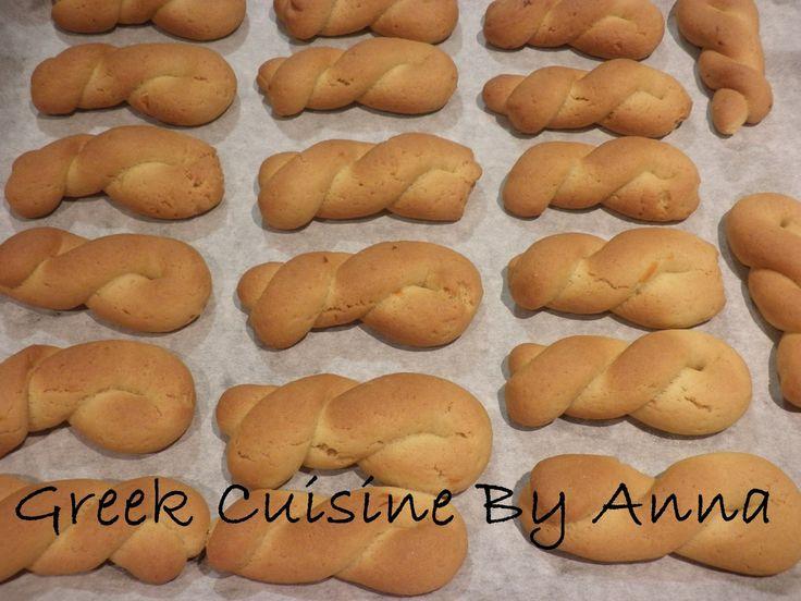 Greek Cuisine By Anna: Κουλουράκια με πορτοκάλι (νηστίσιμα)