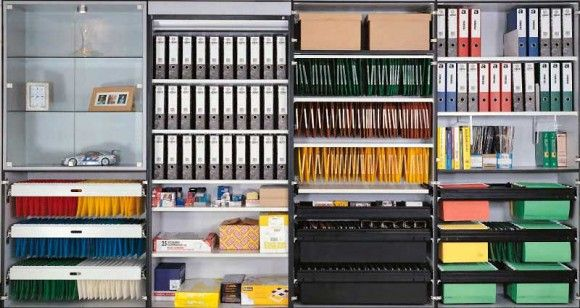 Vertical Shelving for Small Office Storage Solutions | Home Office ...