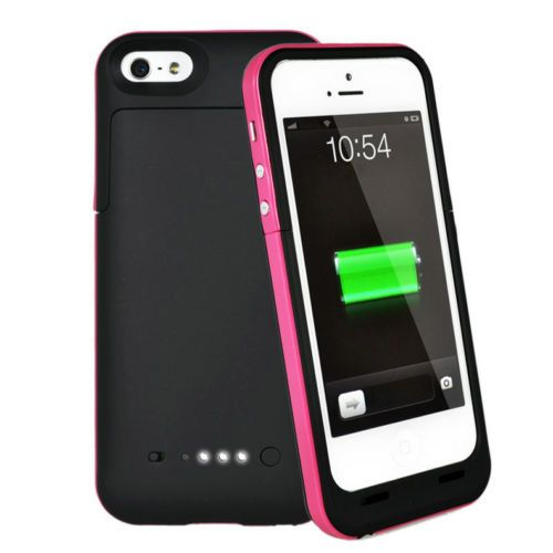 Black and pink 2500mAh power charging cases available from our online webstore