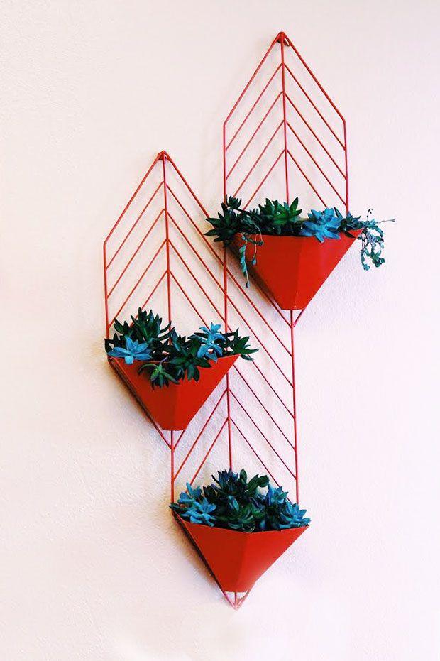 geometric indoor planters