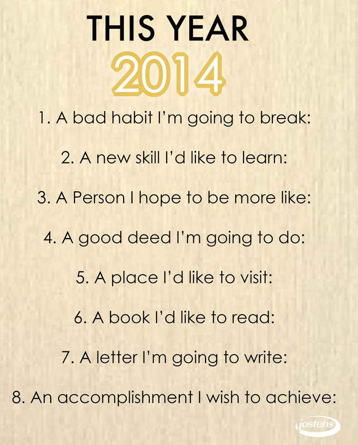 New Years resolution guide #Jostens