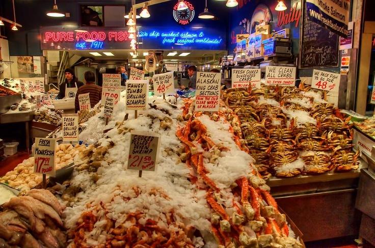 Seattle fresh fish market virgo pinterest for Fish market seattle washington