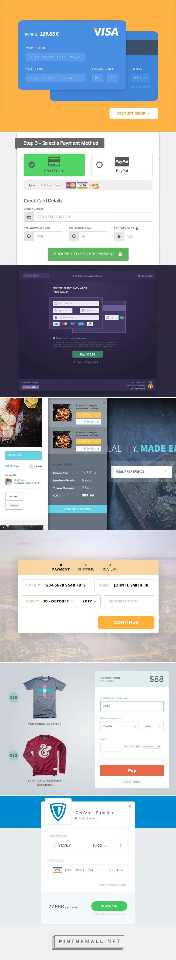 Designing Credit Card Payment Forms - created via http://pinthemall.net