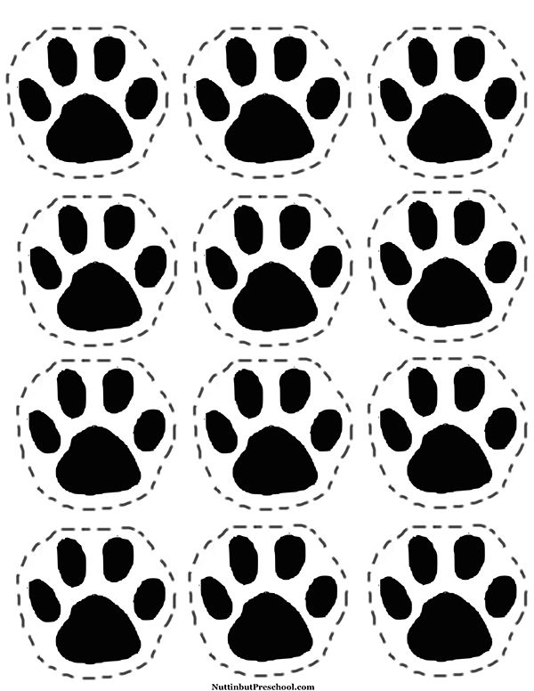 Going on a Bear Hunt Picnic - Printable paw prints to lead children to picnic.