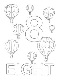 Free Number Coloring Pages Preschool PagesFree Printable