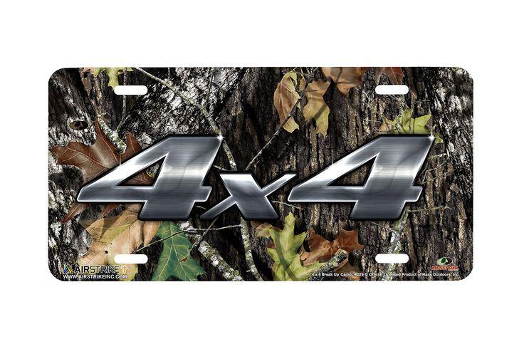 "Airstrike® Mossy Oak License Plate 8029-""4 x 4 Break Up Camo""-Mossy Oak Camo Hunting License Plate"