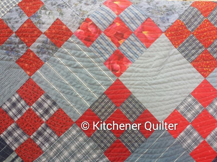 Red & Denim Quilt #8 by Ilene Atkins
