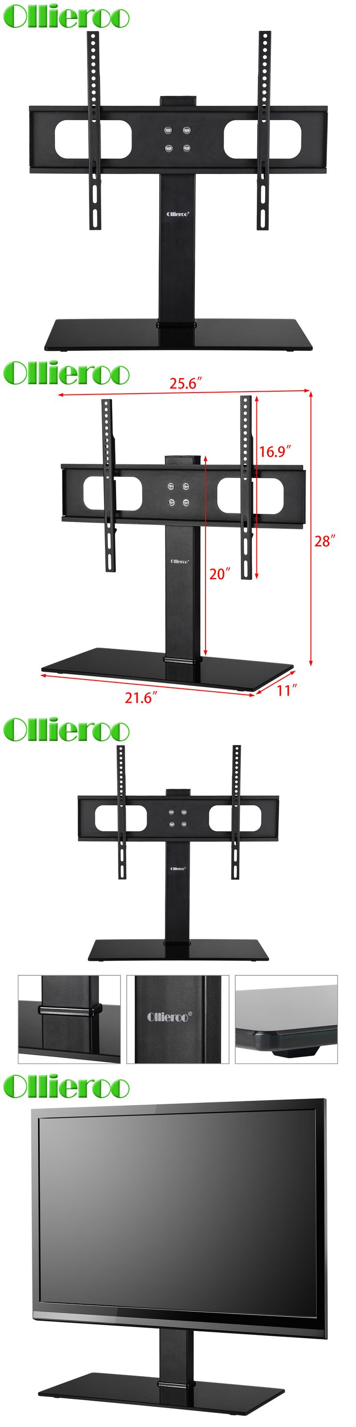 TV Mounts and Brackets: 27-70 Universal Tabletop Tv Stand Base With Mount 110 Lbs Height Adjustable -> BUY IT NOW ONLY: $31.69 on eBay!