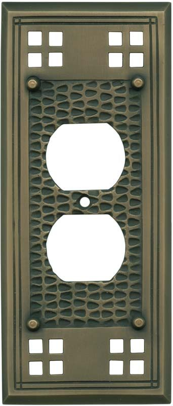Mission Classic Antique Brass Light Switch Plates, Outlet Covers, Wallplates
