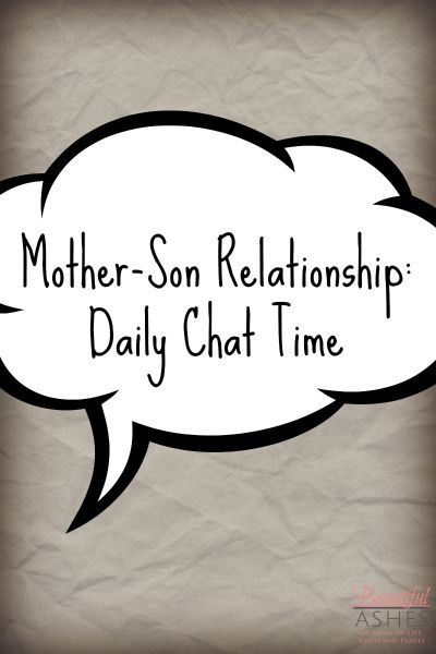 Mother-Son Relationship: Daily Chat Time & Family Fun Friday Link Up - http://www.mistyleask.com/mother-son-relationship-daily-chat-time/