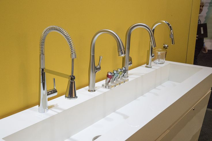 Beal Touchless Faucet, Edgewater semi-pro Faucets, and our new Measure Fill Faucet complement any kitchen design!