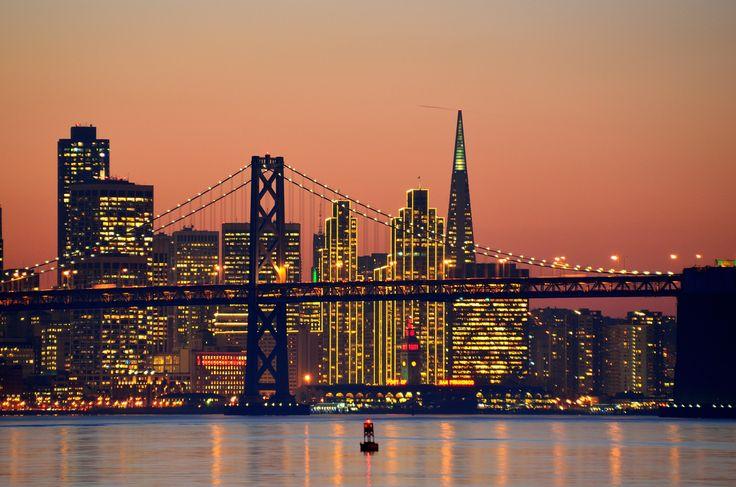 """ San Francisco Skyline by Wade Bryant "" - San Francisco Feelings"