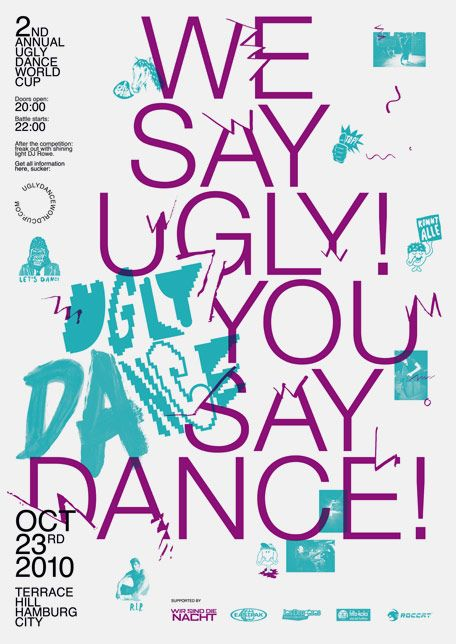 Poster for Ugly Dance World Cup by Falko Ohlmer