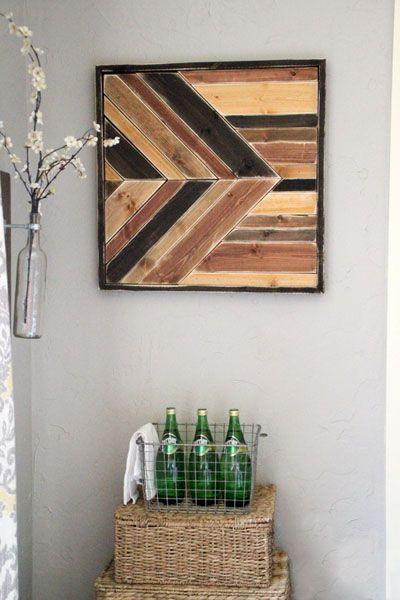 панно на стену из деревянных досок - 09