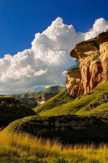 Big, puffy, white clouds in Clarens, South Africa.  Love South Africa - Google+