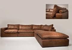 Afbeeldingsresultaat voor cognac lederen sofa met chaise longue