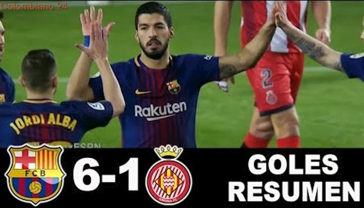 Barcelona vs Girona 6-1 RESUMEN GOLES HIGHLIGHTS La Liga Santander 24/02/2018 HD