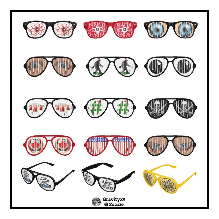 Novelty Sunglasses Collection at Zazzle -- Silly,funny,cool or unique. Find a sunglasses style you like. #Gravityx9 Designs -