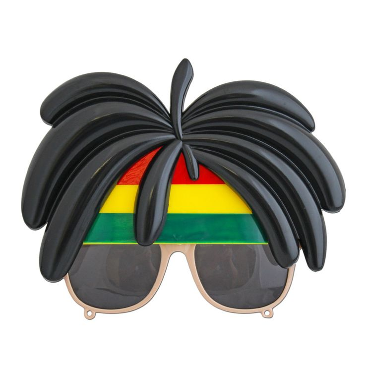 This pair of Rasta glasses with hair will be a great addition to your party outfit.