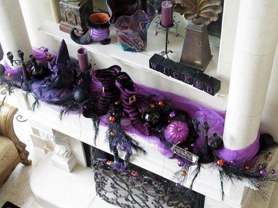 57 awesome purple halloween dcor ideas digsdigs - Big Lots Halloween Decorations