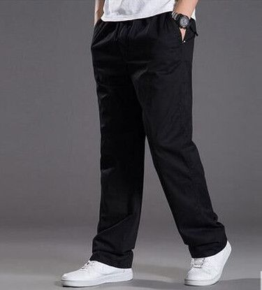 BAIJOE 2017 new spring casual Pants men cargo pants cotton loose trousers mens pants overalls fashion super large XL-6XL
