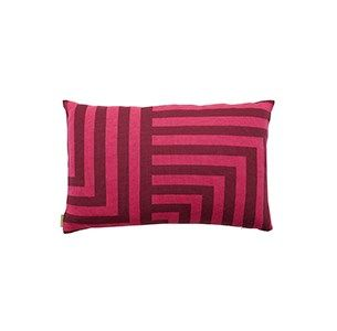Meta blomme/pink pude / knitted cushion / 100 % wool / made in denmark