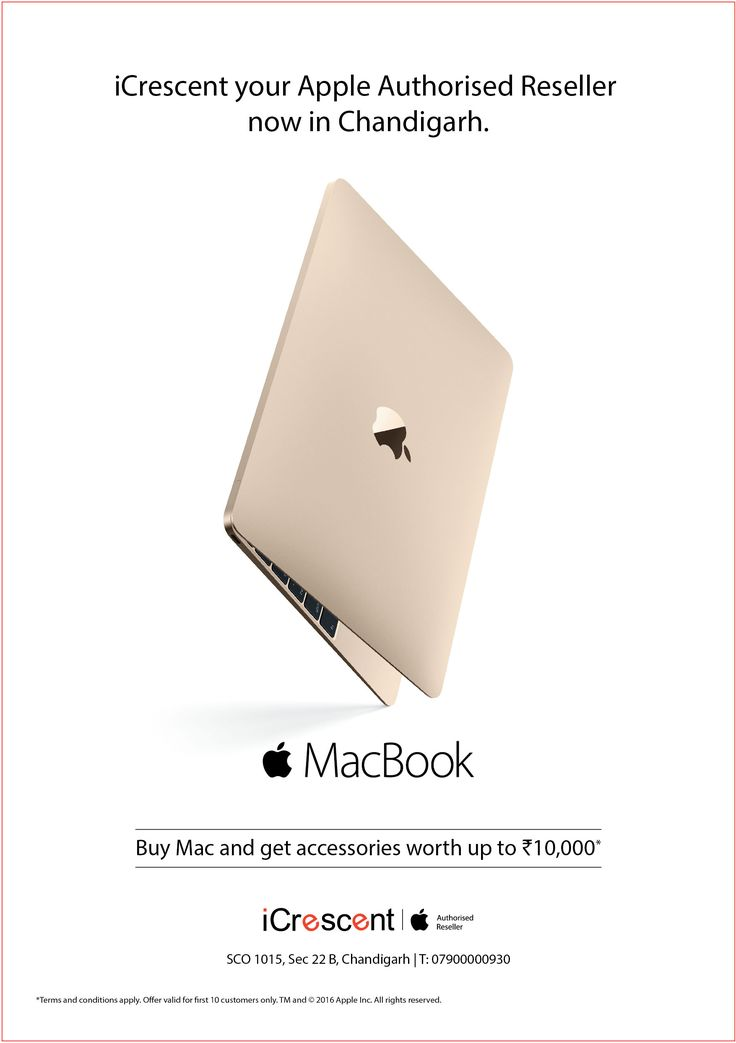 Buy Mac and get accessories worth up to Rs.10,000. #iCrescent #Apple #Mac #Chandigarh