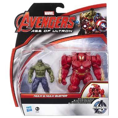 Marvel Avengers Hulk en Hulk Buster actiefiguren  Ga samen met de Hulk en Hulk Buster de strijd aan tegen Ultron! Deze set bevat de Hulk en Hulk Buster-actiefiguren met een lengte van 6 cm.  EUR 15.99  Meer informatie