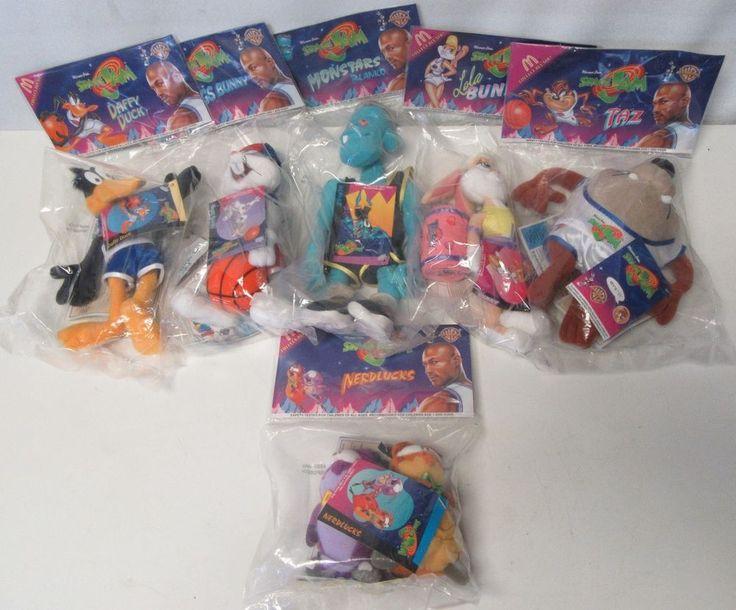 McDONALD'S/LOONEY TUNES SPACE JAM, 6 Plush 1996 Stuffed Dolls BRAND NEW Collect