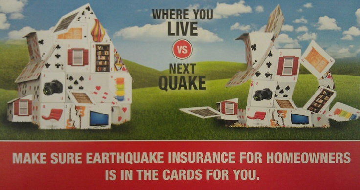 When it comes to Earthquakes, you never really know when one is going to strike. Even the California Earthquake Authority, an organization which focuses their research on Earthquakes in California, doesn't know for sure when the next one will occur or how bad it will be. Isn't it better to be covered and not need it, than to need it and not be covered? Since it doesn't happen too often, Earthquake Insurance can be relatively cheap. #YouNeverKnowUntilYouAsk #AreYouProtected