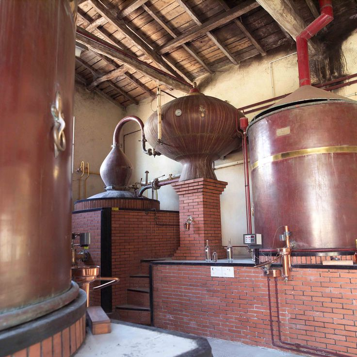 Pot still at the Cognac Ferrand distillery