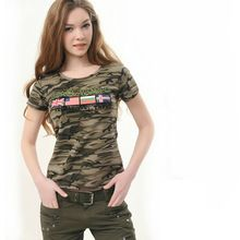 Couples Military Camouflage T-shirt Spring Summer Cotton Letter world flag Printed Tshirt For Men women Casual Tops(China (Mainland))