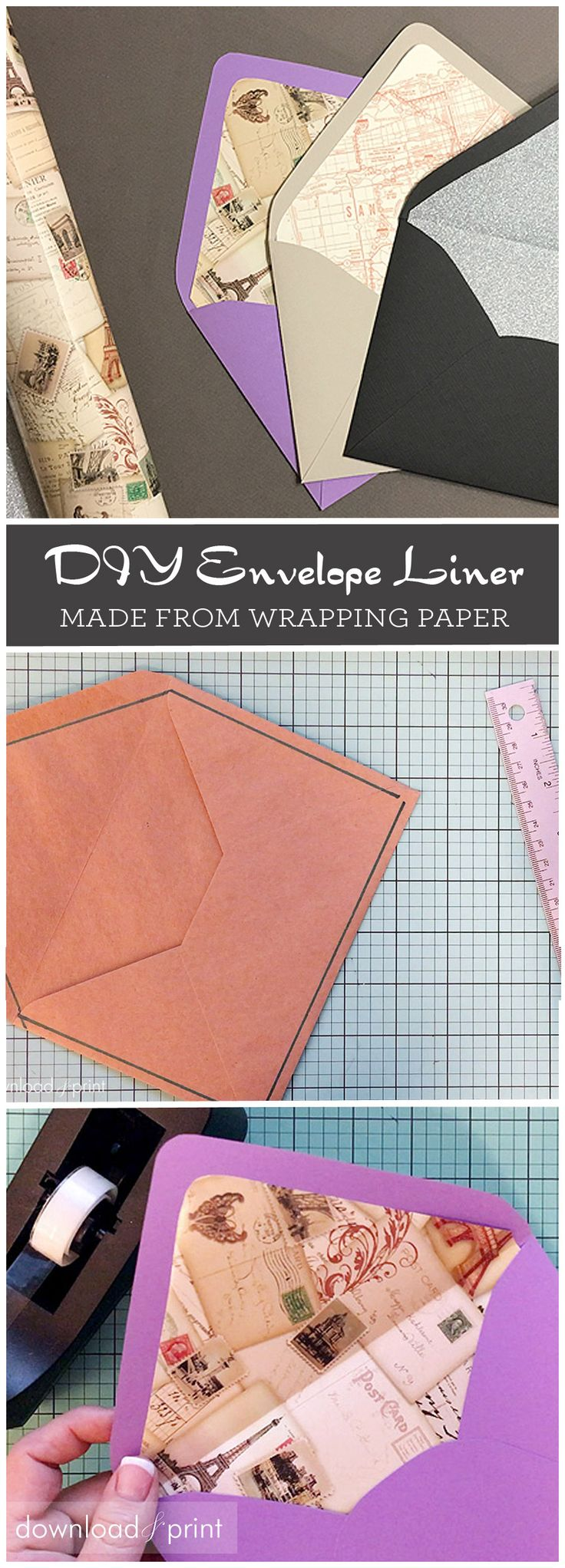 Learn how to upgrade your envelopes in a jiffy with wrapping paper. Making an envelope liner from wrapper paper is easy, and adds instant style to plain envelopes. I'll show you how...