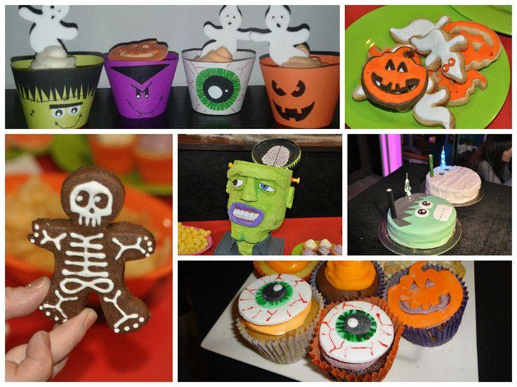 Decoración halloween. Galletitas. Tortas. Cupcakes.