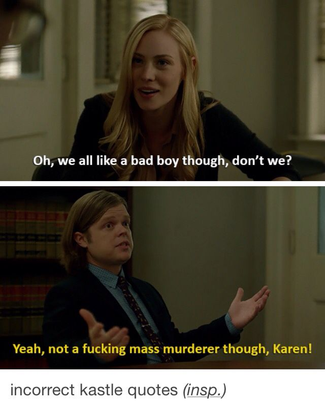 Daredevil season 2 - basically all of Karen's conversations about Frank Castle