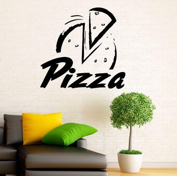 Pizzería la pared calcomanía vinilo Stickers Pizza restaurante