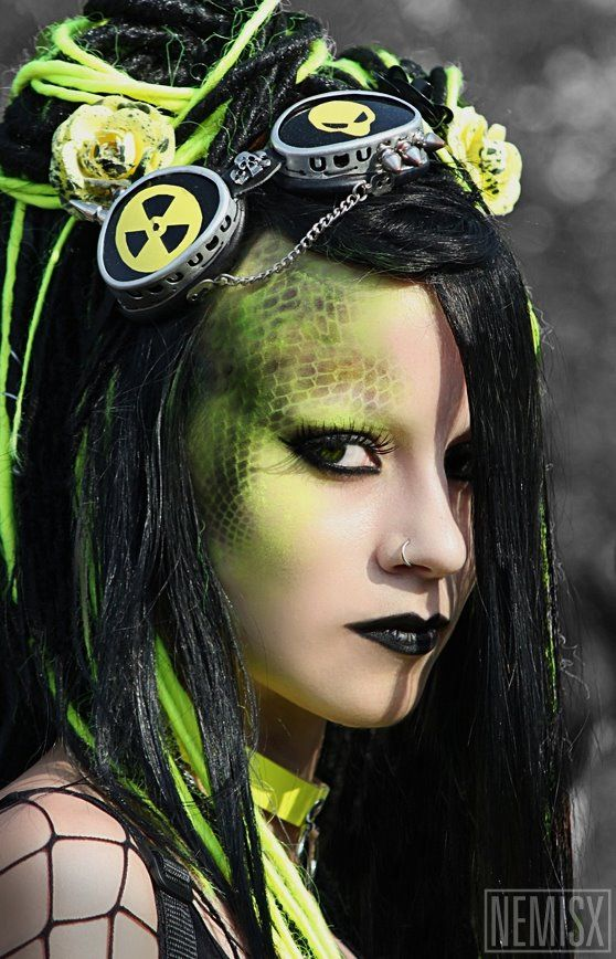Galerry cyber punk and cyber goth makeup pictures