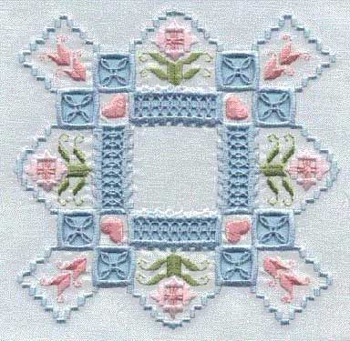 Machine Embroidered Hardanger