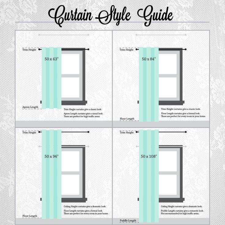 Window Curtain Lengths Curtain Length Rules Nrtradiant Shabby Chic