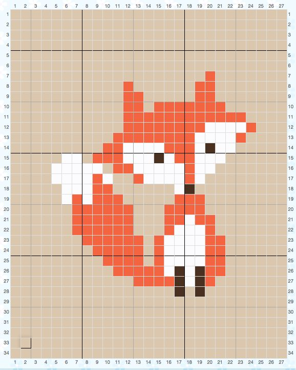how to follow a complicated cross stitch pattern