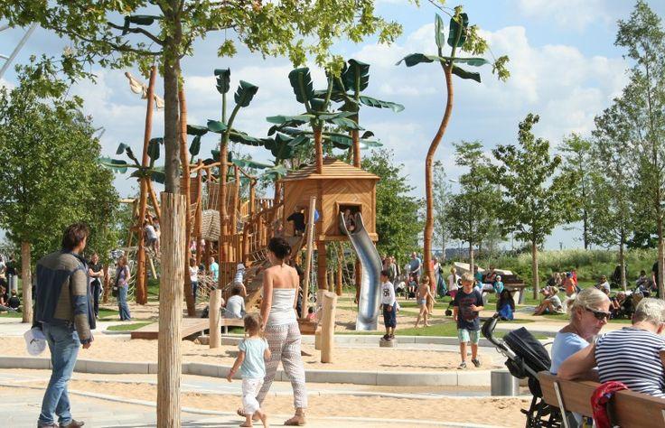 HH mit Kids: Schatzinsel-Spielplatz im Grasbrookpark in der HafenCity © destinus.de;
