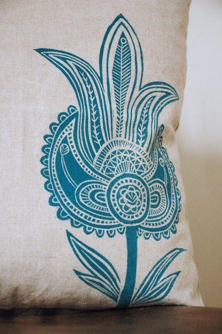 block print motif hand printed