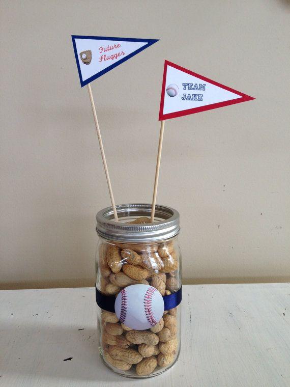 It's a Boy Baseball Themed Shower Baseball themed by HandmadeByVee