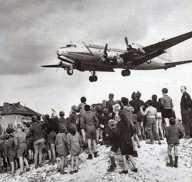The Berlin blockade (24 June 1948 – 12 May 1949) was one of the first major international crises of the Cold War. During the multinational occupation of post–World War II Germany, the Soviet Union blocked the Western Allies' railway, road, and canal access to the sectors of Berlin under allied control. Their aim was to force the western powers to allow the Soviet zone to start supplying Berlin with food, fuel, and aid, thereby giving the Soviets practical control over the entire city.