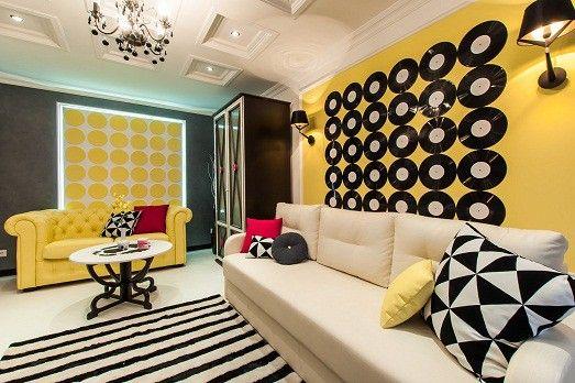 Яркий поп-арт в интерьере жилья