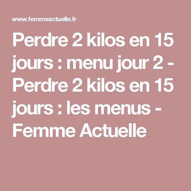 Perdre 2 kilos en 15 jours : menu jour 2 - Perdre 2 kilos en 15 jours : les menus - Femme Actuelle