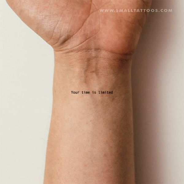 Your Time Is Limited Temporary Tattoo (Set of 3)   – Tatoo