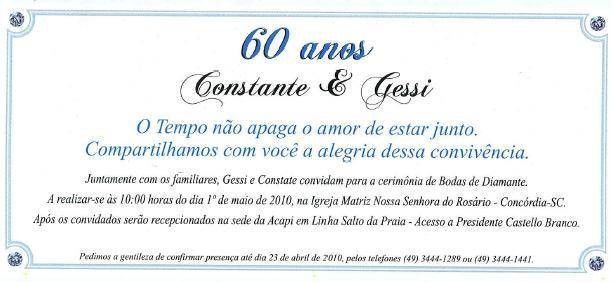 Convite De Bodas De Diamante Frases Para Convites